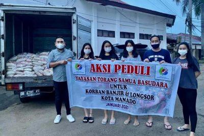 Serahkan Bantuan, YTSB Ringankan Beban Korban Bencana Alam Banjir dan Tanah Longsor