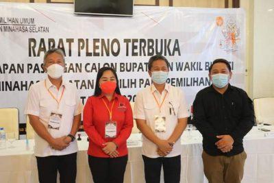 Sah ! KPU Minsel Tetapkan FDW-PYR Sebagai Pasangan Bupati dan Wabup Terpilih di Pilkada 09 Desember 2020