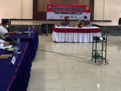 Pelatihan VCD Reskrim Polres Minsel