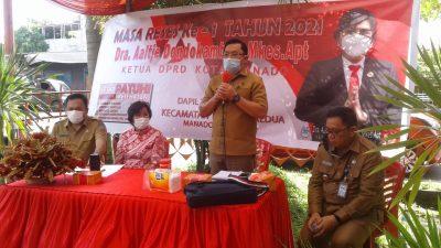 Masa Reses Pertama Tahun 2021 Ketua DPRD Kota Manado Aaltje Dondokambey