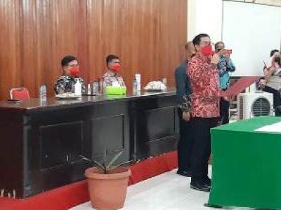 Pelantikan Penjabat Hukum Tua di Kabupaten Minut