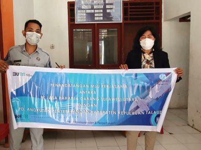 PT Jasa Raharja Teken MoU Dengan PD Angkutan Penyeberangan Kabupaten Kepulauan Talaud