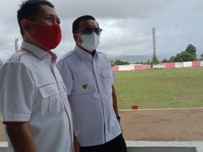 Walikota Bitung Maurits Mantiri Tinjau GOR dan Stadion Dua Sudara