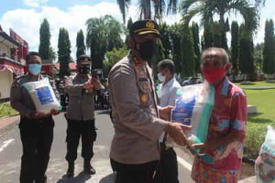 Polres Minsel Salurkan bantuan beras dari Sekretariat Kepresidenan RI